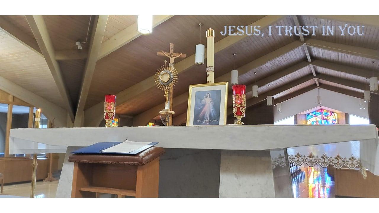 divine mercy altar
