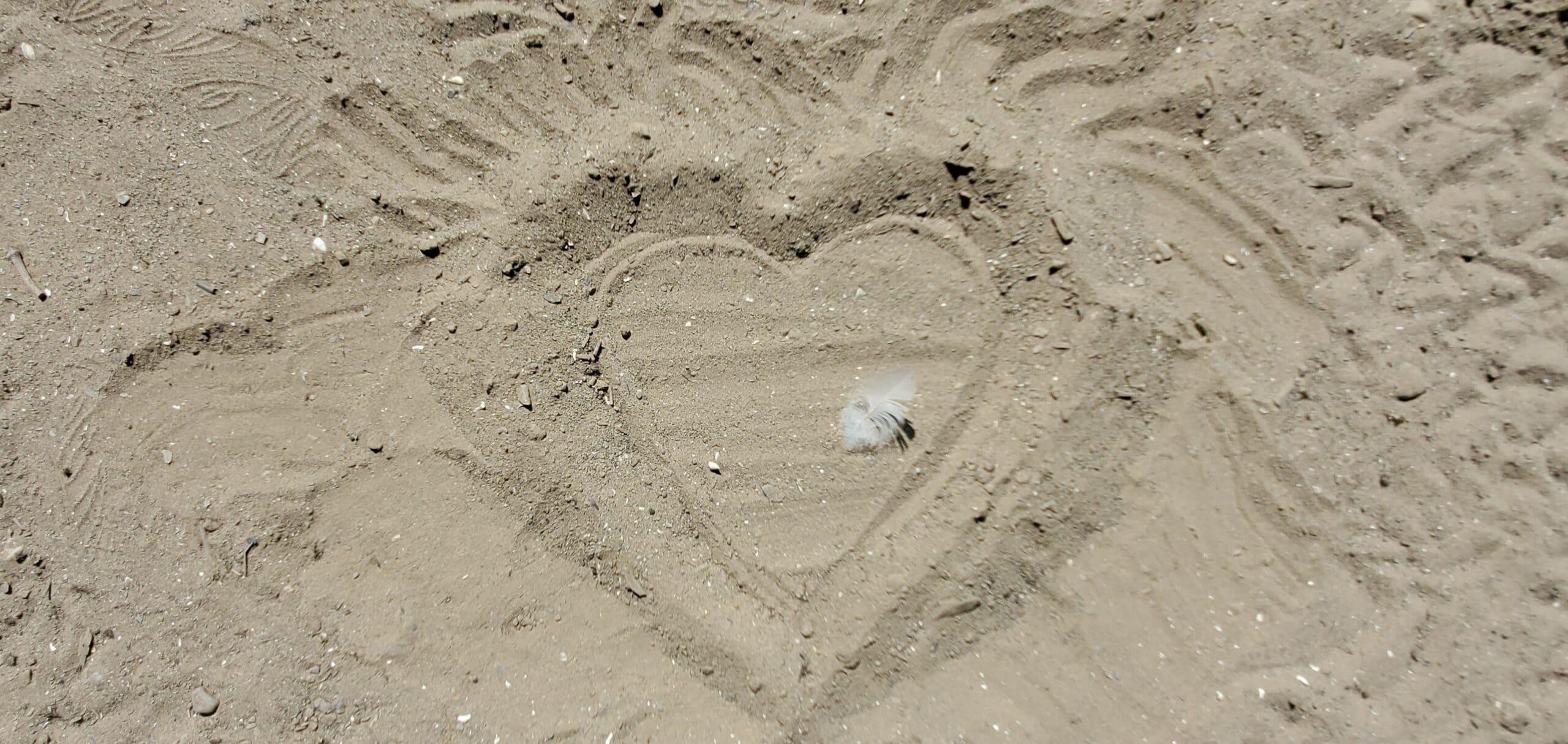 sand heart